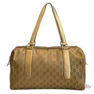 Authentic Gucci Metallic GG Boston Bag 257288